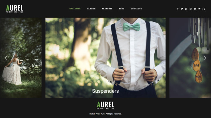 Aurel - Photography WordPress Theme